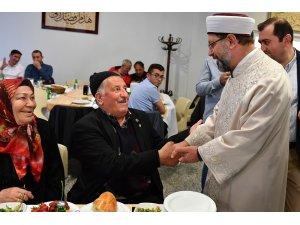 Diyanet İşleri Başkanı Erbaş, şehit yakınları ve gazilerle iftar sofrasında buluştu