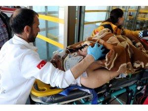 Kayseri'de aranan şahıs polisi karşısında görünce 5. kattan atladı