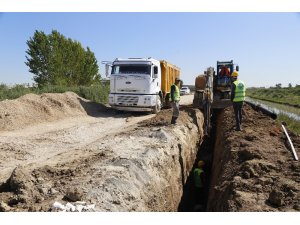 MESKİ, Karacailyas'a 7 milyon 720 bin TL'lik kanalizasyon hattı yapıyor