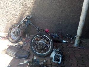 Polis motosiklet parçalarını yapboz gibi birleştirdi olayı çözdü