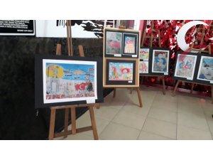 Öğrencilerin kişisel resim sergisi ildi gördü