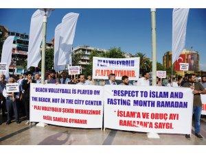 Aydın'da STK'lardan Ramazan ayında plaj voleybolu tepkisi
