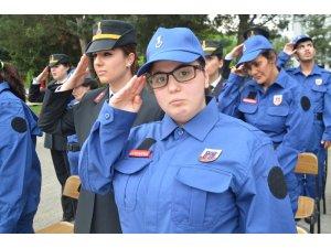 1 günlüğüne asker olmanın sevincini yaşadılar