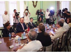 Dışişleri Bakanı Çavuşoğlu Kübalı mevkidaşı ile görüştü