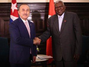 Dışişleri Bakanı Çavuşoğlu, Küba Halkın Gücü Parlamento Başkanı ile görüştü
