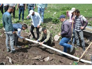 Başkan Demir, merada hayvan içme suyu çalışması başlattı