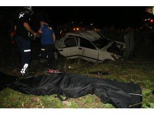 Adana'da otomobil şarampole devrildi: 2 ölü, 2 yaralı