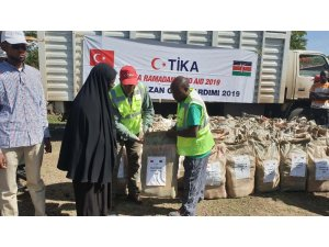 TİKA'dan Kenya'da ihtiyaç sahibi ailelere gıda yardımı