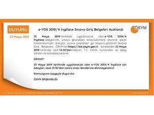 Yabancı Dil Bilgisi Seviye Tespit Sınavı'na giriş belgeleri yayınlandı