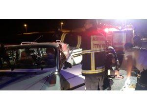 İki otomobil çarpıştı: 11 Yaralı