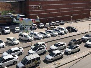 Bayram öncesi drone ile trafik denetimi