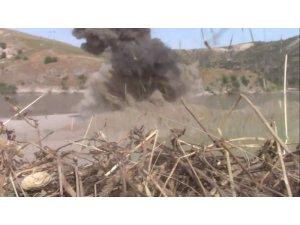 Batman'da köy yoluna tuzaklanan patlayıcı imha edildi