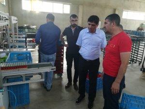 Rektör Alma, Koko Çakmak fabrikasında incelemelerde bulundu