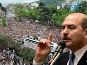 Süleyman Soylu, Trabzon'daki kalabalığa inanamadı, 'photoshop' dedi