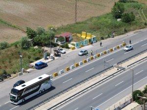 Çanakkale'de sürücülere havadan denetim