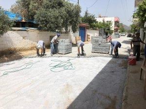 Germencik Hıdırbeyli'de üstyapı parke çalışmaları tamamlandı