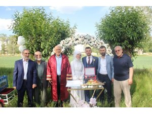 Başkan Pekmezci, Orhan ve Fatmanur çiftinin nikahını kıydı