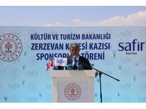 Zerzevan Kalesi'nde Kültür ve Turizm Bakanlığı ve Safir tuz arasında sponsorluk imza töreni gerçekleşti