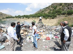 Başkan Vekili Karataş, çöp depolama alanında incelemelerde bulundu