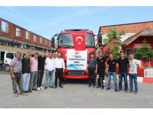 Türkeli'ye yeni itfaiye aracı