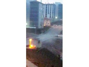TOKİ'de trafo patladı