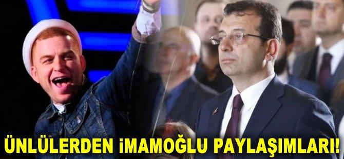 Ünlülerden Ekrem imamoğlu paylaşımları...