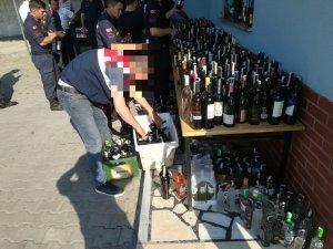 Jandarmadan kaçak içki uygulamasında 6 milyon TL ceza