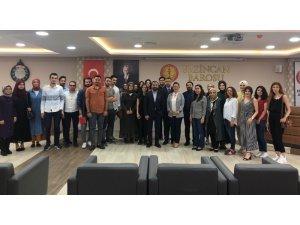 """Erzincan'da """"Trafik ve İş Kazalarından Doğan Davalar ve Yargılama Usulü"""" konulu meslek içi eğitim semineri"""