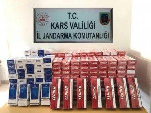 Sarıkamış'ta 2 bin 800 paket kaçak sigara ele geçirildi