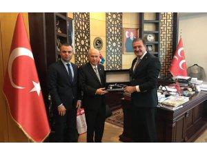 Türkiye Taekwondo Federasyonu'ndan MHP Genel Başkanı Bahçeli'ye ziyaret