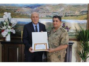 İl Jandarma Komutanı Bilgiç'ten Başkan Pekmezci'ye şükran ziyareti