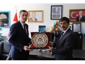 Milli Eğitim Bakanı Ziya Selçuk'tan Başkan Aksun'a ziyaret