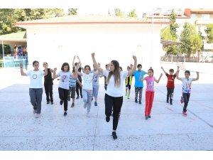 Pamukkale'de yaz spor kursları açıldı