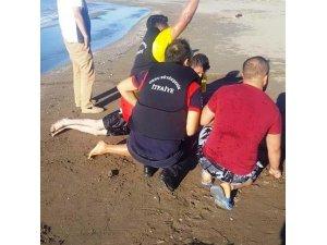 Fatsa'da bir kişi boğulma tehlikesi geçirdi