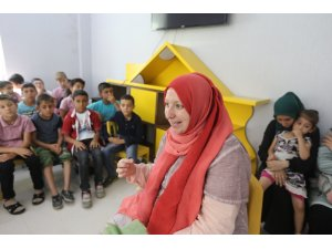 """Gaziantep'te çocuklarla """"tefekkür saati"""" söyleşisi"""