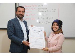Elazığ'da 110 kursiyere sertifikaları verildi