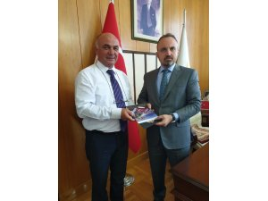 Bülent Turan, Çardak Belediye Başkanı Semerci'yi kabul etti