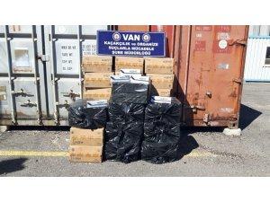 Van'da 14 bin 800 paket kaçak sigara ele geçirildi