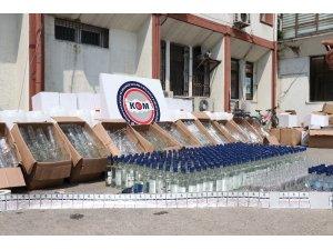 Mersin polisinden sahte alkol üretimi yapılan depoya baskın