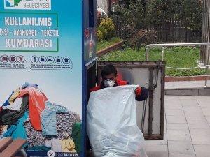 İzmit'te tonlarca tekstil atığı toplanıyor
