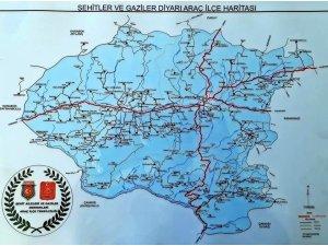 Araç ilçesinin haritası bastırıldı