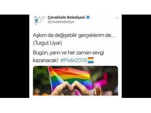 Çanakkale Belediyesi 'LGBTI' paylaşımını kaldırdı