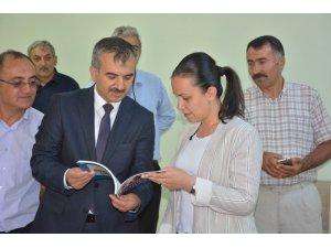 Kaymakam Özdemir, Kur'an kursunda incelemelerde bulundu