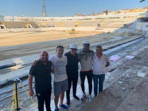 Rodallega, yapımı devam eden Atatürk Stadyumu'nu gezdi