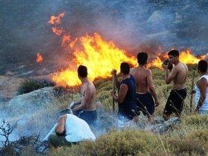 Bodrum alev alev yanıyor: Alevler tatilcilerin sitelerine kadar yayıldı...