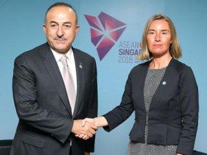 Çavuşoğlu ile Mogherini arasında kritik 'sondaj' görüşmesi!