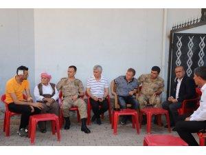 Kaymakam Arıcan'dan terör saldırısında yaralanan bekçilere ziyaret