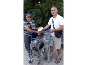 Burhaniye'de gurbetçi vatandaştan örnek davranış