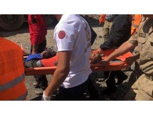 Sarıkamış'ta ayının saldırdığı genç kayalıktan düştü