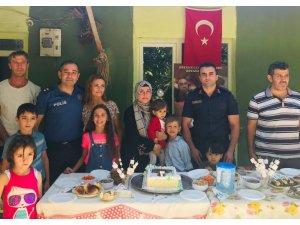 Şehit oğluna polis ve jandarmadan sürpriz doğum günü